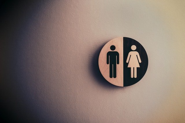 Toilet signs or bathroom signs