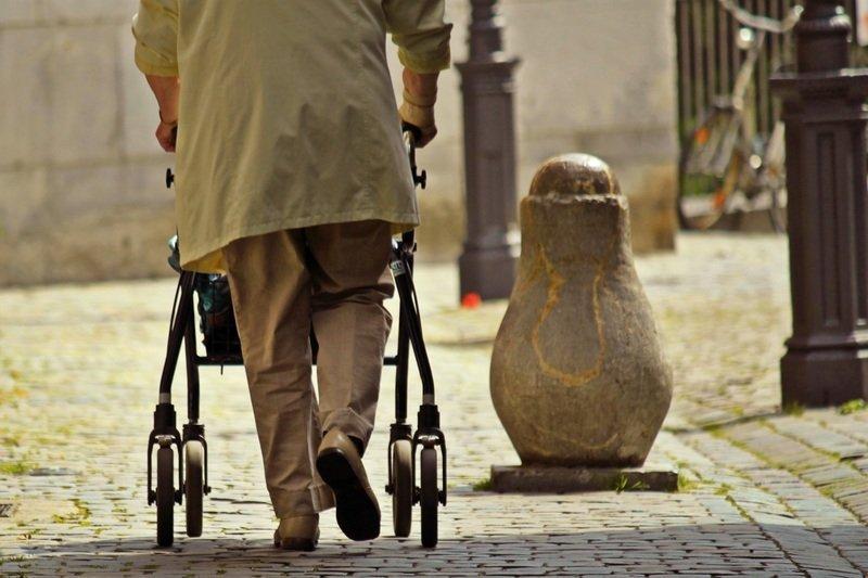 Elder walk alone