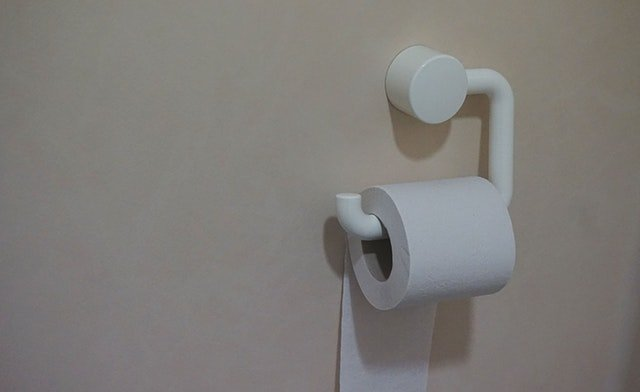 Toilet paper or bathroom tissue