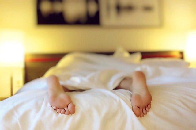 Sleeping on bed