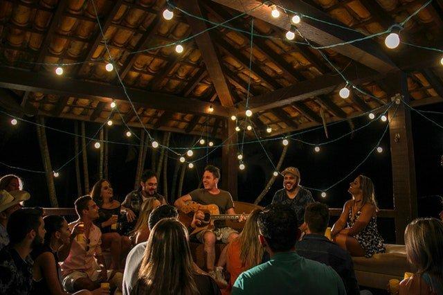 Youth gatherings at night
