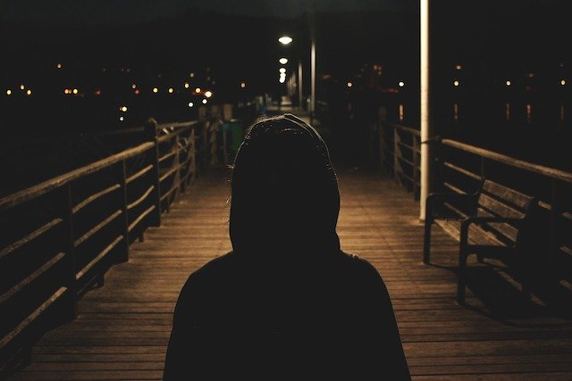 Walk inside the darkness and loneliness