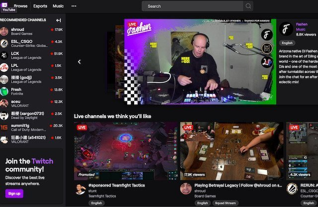 The best live streaming website