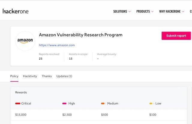Hackerone bug bounty program earning lots of money