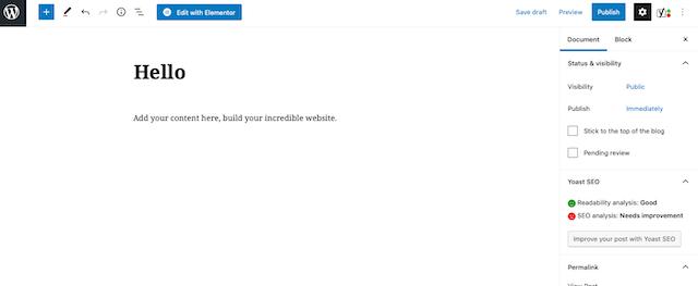 Wordpress add content