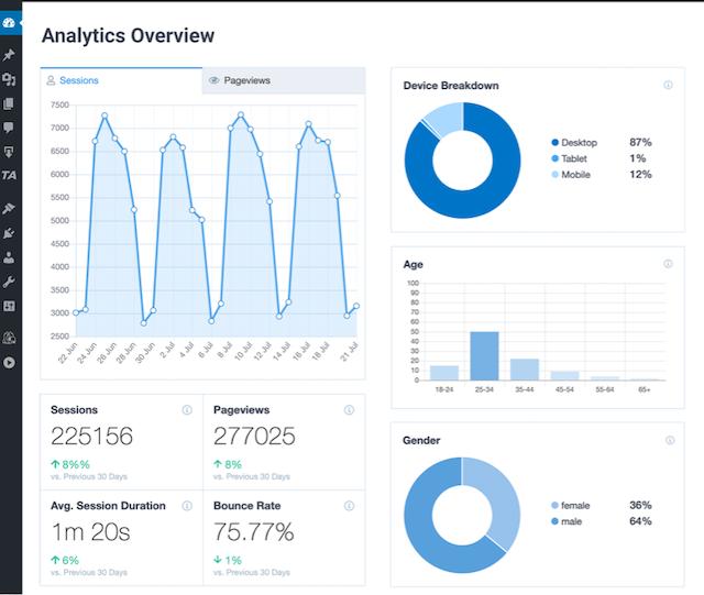 WordPress analytics your website traffic