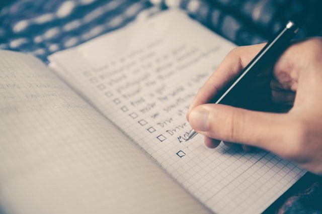 write down your planning