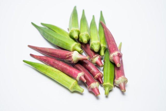 Different varieties of okra